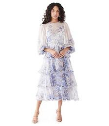 Luminous Frayed Edge Midi Dress