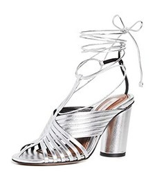 Strappy Angled Heel Sandals