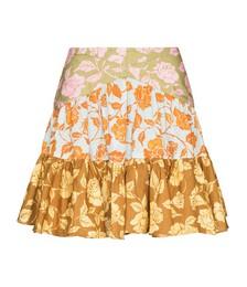 Lovestruck Rose-print Tiered Mini Skirt