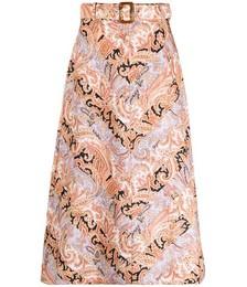A-line Paisley-print Skirt
