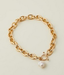 Hernan Chunky Chain Necklace with Pearl Pendant