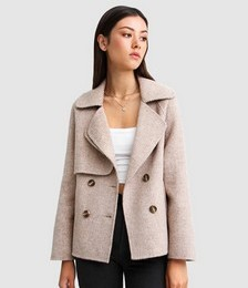 I'm Yours Wool Blend Peacoat