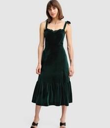 Summer Storm Velvet Midi Dress