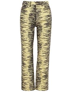 Zebra-print Straight-leg Jeans