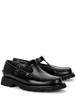 Alber Sport Black Leather Loafers
