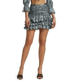 Alisha Ruffled Mini Skirt