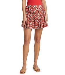 Sherley Ruffle Godet Mini Skirt