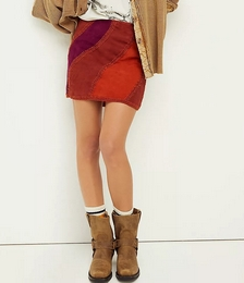 Hanson Suede Patched Mini Skirt