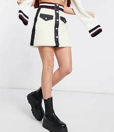 Winter Denim Skirt in Black