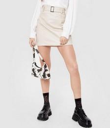 Belt of My Love Faux Leather Mini Skirt