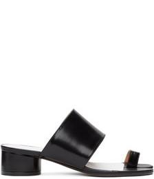 Black Tabi Heeled Sandals