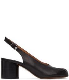 Black Slingback Tabi Pump Heels