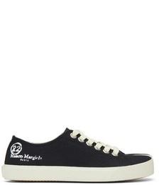 Black Canvas Tabi Sneakers