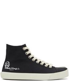 Black Tabi High-Top Sneakers