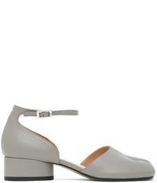 SSENSE Exclusive Grey Tabi Ankle Strap Heels