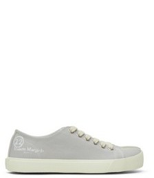 Grey Canvas Tabi Sneakers
