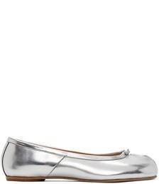 Silver Tabi Ballerina Flats