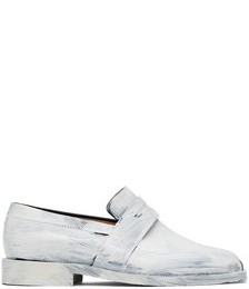Black & White Painted Tabi Loafers
