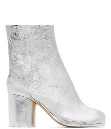 Silver Suede Tabi Boots
