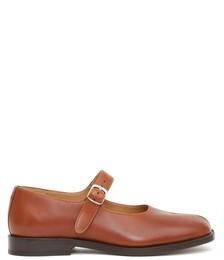 Tabi Split-toe Leather Mary Jane Flats