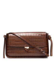 Maggie Crocodile Effect Baguette Bag