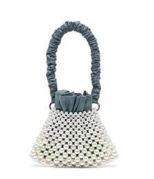 Anina Pearl-embellished Baguette Bag