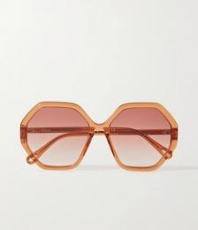 Esther Octagon-frame Acetate Sunglasses