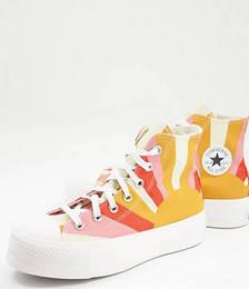 Chuck Taylor Lift Sunshine Sneaker in Orange