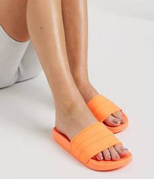 Freya Pool Sliders in Neon Orange