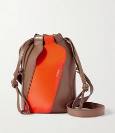 Tulip Mini Paneled Leather Bucket Bag