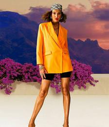 Bright Dad Blazer in Orange