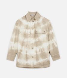 Tie-Dye Denim Shirt