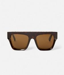 Shiny Black Square Sunglasses