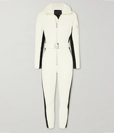 Signature In The Boot Belted Striped Ski suit