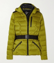 Soldis Belted Quilted Down Ski Jacket