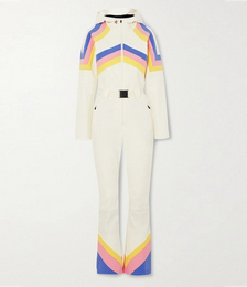 Tignes Hooded Belted Striped Ski Suit