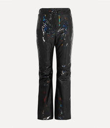 Appliquéd Holographic Padded Ski Pants