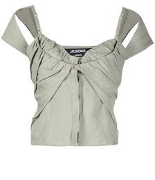Layered Linen-blend Top