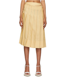 Yellow 'La Jupe Plissée' Skirt