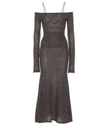 La Robe Valerie Mohair-blend Midi Dress
