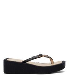 Black 'Les Tatanes Lin' Sandals