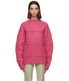 Pink Mohair 'La Maille Albi' Sweater