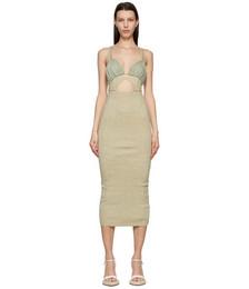 Taupe & Green 'La Robe Pila' Dress