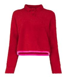 Le Polo Neve LS Sweater Red