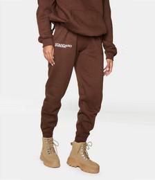 Brown Standard Slogan Track Pants