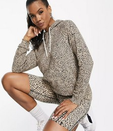 Lil Co-ord Hoodie and Shorts in Animal Print