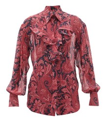 Sacramento Paisley-print Silk-chiffon Blouse