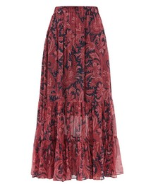 Long Beach Paisley-print Silk-chiffon Maxi Skirt