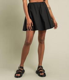 Cassidy Poplin Mini Skirt in Black