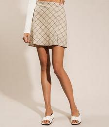 Daria Mini Skirt in Natural Check
